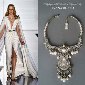 Designer Pearls/ Crystal Necklace